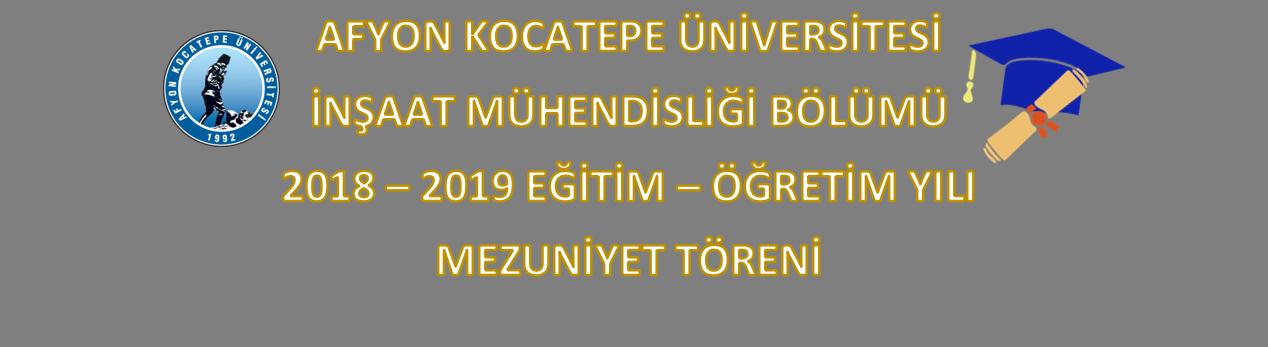 2018-2019 Eğitim-Öğretim Yılı Mezuniyet Töreni